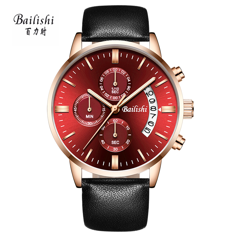 BAILISHI Men Watches Luxury Brand Full Genuine Leather Men Wrist Quartz Watch Clock Male 30m Waterproof Casual Sport Watch bailishi diamonds hour stainless steel wrist watch male clock men sports watches men s casual quartz watch waterproof watches