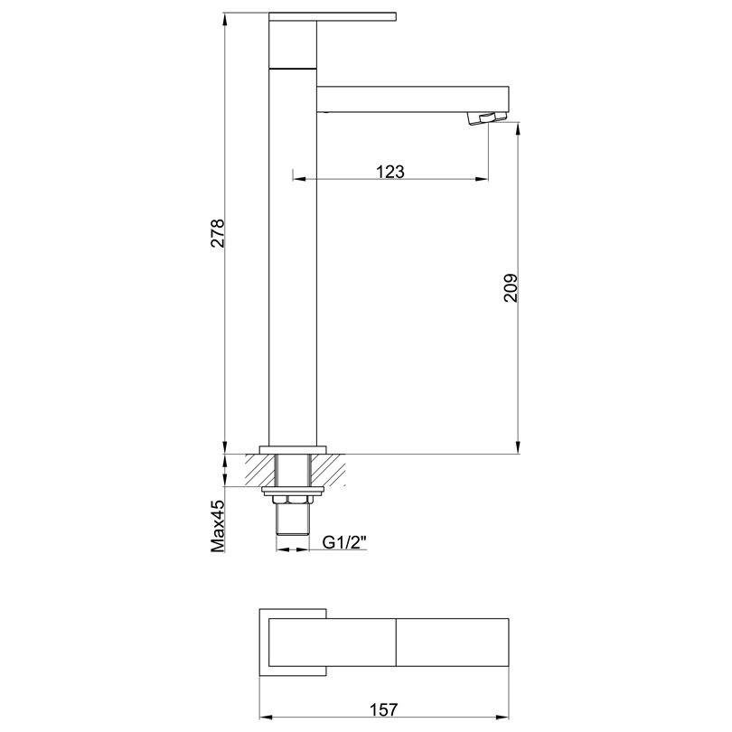 Aliexpress com Buy brand new 2015 high wash basin water tap G1 2 full brass  chrome. Wash Basin Height