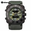 Marca de Topo Homens de INFANTARIA Esportes Relógio Militares Relógios Dual Time Quartzo Digitais Camouflage Dial de Pulso Pulseira de Borracha