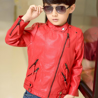 Mother and daughter Leather coat Mother and Son Jacket Faux Leather outfits PU family coats Matching outfits Kids clothes