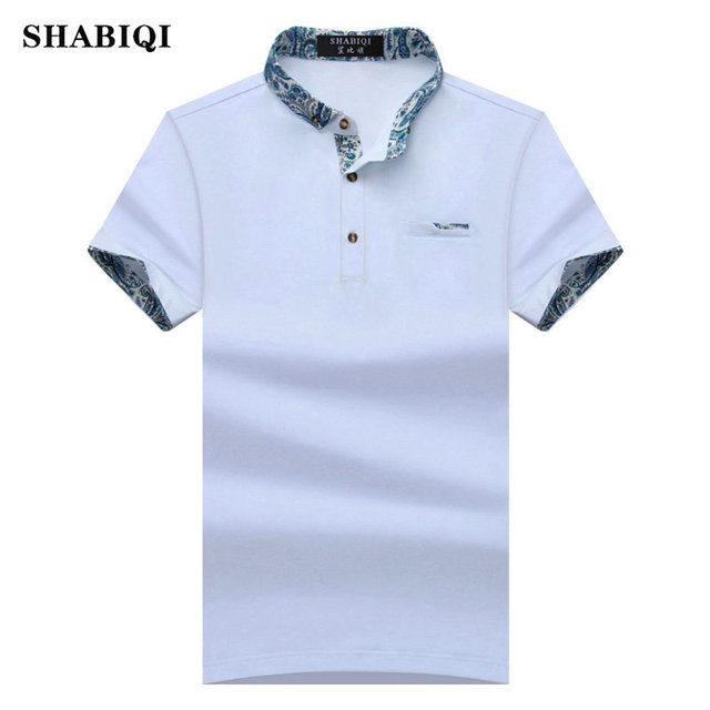 f553b7380 SHABIQI 2018 New Brand New Floral Collar Men POLO Shirts Summer Style Short Sleeve  Shirts Camisas Polo Plus Size S - 10XL