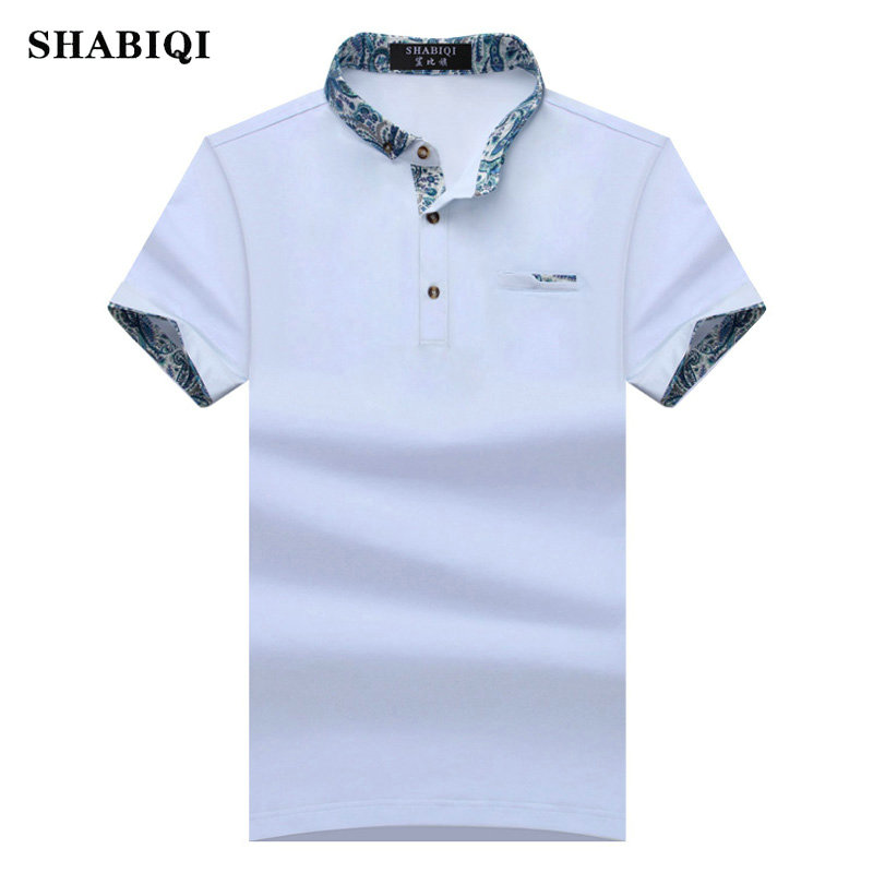 SHABIQI 2019 New Brand New Floral Collar Men   POLO   Shirts Summer Style Short Sleeve Shirts Camisas   Polo   Plus Size S - 10XL, 1633