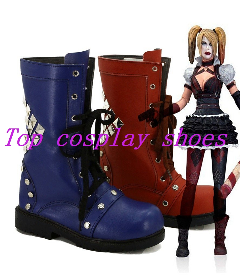 ee4fbb65d317 Batman Arkham Knight Game Harley Quinn Cosplay Shoes Boots ...