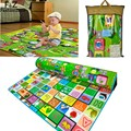 1.8x2 M Tapete Bebê Crawling Jogar Mat Cartas De Frutas Fazenda Desenvolver Mat para Crianças Brinquedo Almofada Game Pad Subir Cobertor Infantil presente