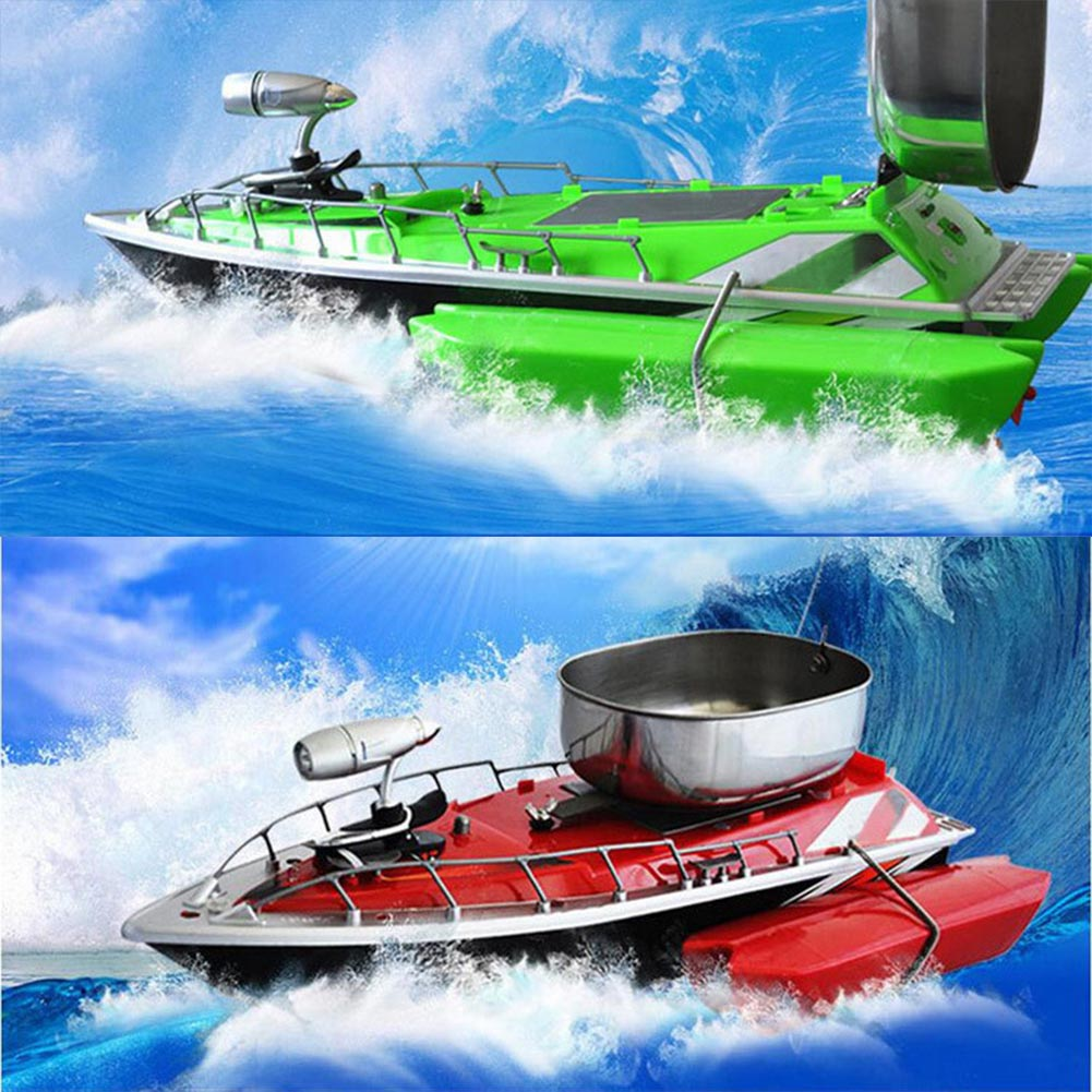 Hot Mini RC Fishing Lure Bait Boat Finding Fish Wireless Remote Control Fish Finder Ship DO2