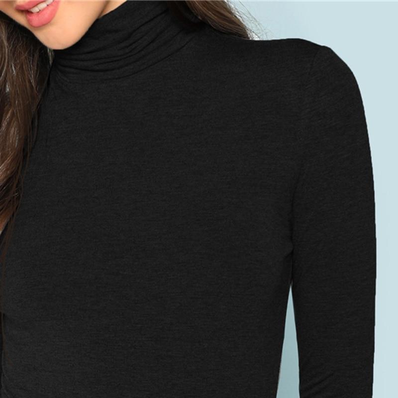 Body de cuello y mangas largas negro Paraíso de la Moda   PdM