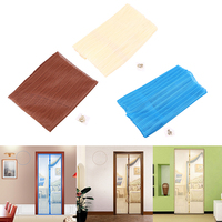 100X210cm Magic Instant Mesh Screen Door Magnetic Hands Free Bug Mosquito Fly Pet Patio Net