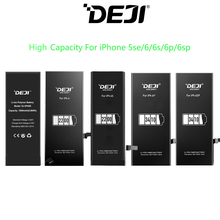 DEJI Original Battery For iPhone 5se/6/6s/6p/6sp With Free Tools Kit High Capacity Mix 5pcs one set of Batteries Replacement