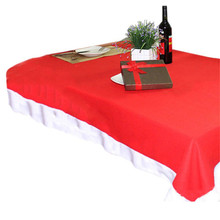 Red Xmas Tablecloth Table Cover Decoration Table Cloth For Christmas Holiday  Home Decoration Xmas Party DIY