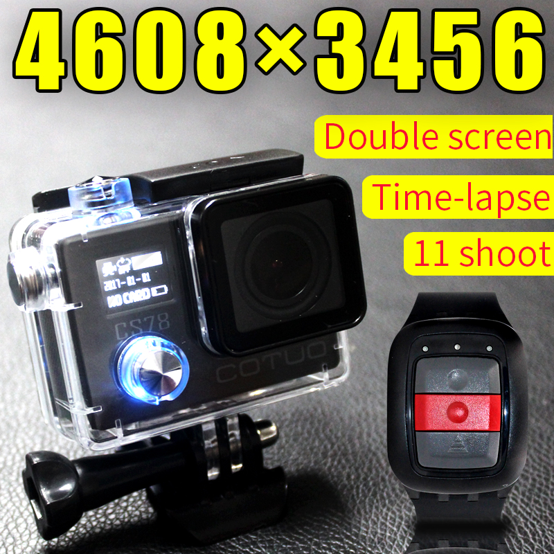 Original COTUO CS78 Action camera Ultra HD 1080P 30fps WiFi 2 0 150D underwater Camera waterproof