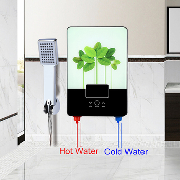 6500W Water Heater Electric Hot Water Boiler 220V Tankless Instant Boiler Bathroom Shower Set Thermostat Intelligent Calorifier 1