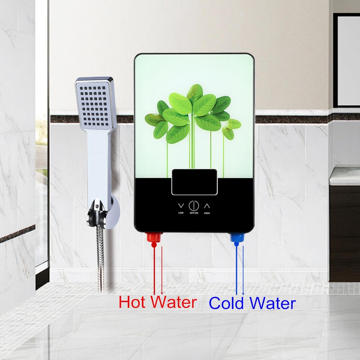 Calentador de agua eléctrico grifo hogar Baño Calentador de agua instantáneo inteligente velocidad caliente Calentador de agua ducha caliente - 2