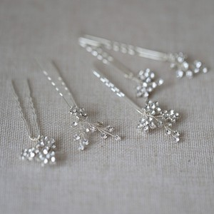 Image 3 - Jonnafe Shine Rhinestone Floral Wedding Hair Pins Set Gold Silver Color Bridal Hair Jewelry Accessories