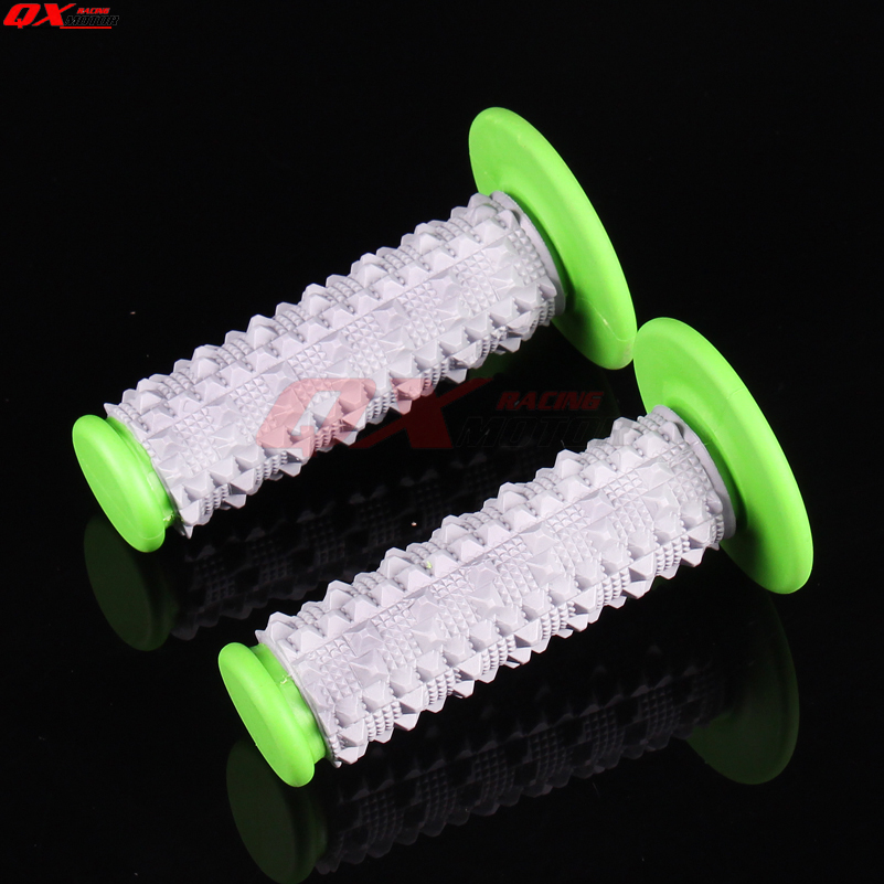 Green TPE Rubber Soft 3D Hand Grips Dirt Bike Motocross Motorbike MX Girps Fit KLX KXF 7/8