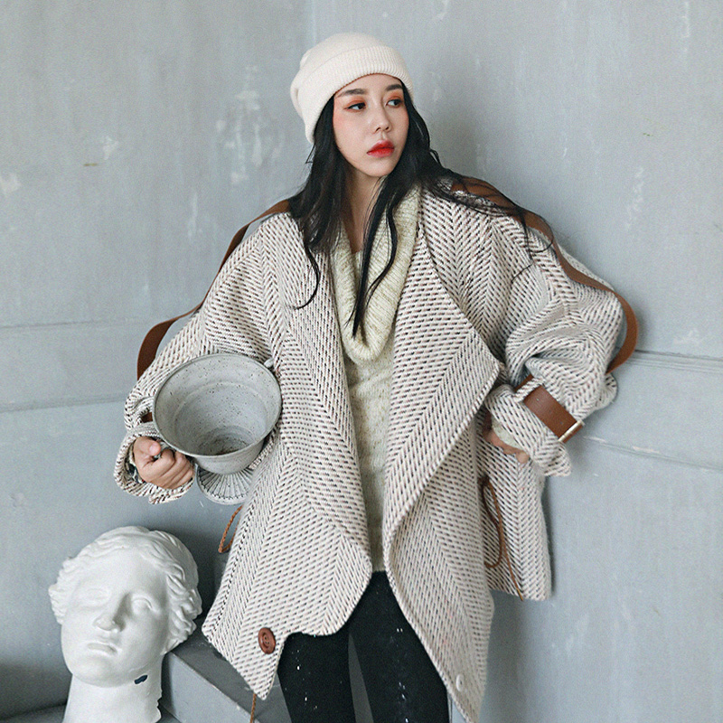As 2018 Laine Surdimensionné Collection Aw Picture Irinaw251 Femmes Vintage Manteau Nouvelle Tweed vqdxH