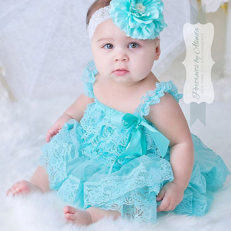 cute baby girl clothes newborn baptism dress infant aqua