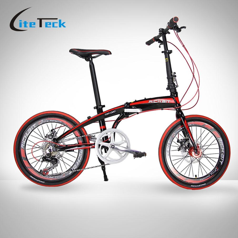 20in Mini Folding Bike 7 Gears Portable Mountain Road