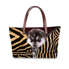 Handbag for Women 2019 New Fashion Bags Shoulder Bag Beach 3D Animal Dog Cat Creative Pattern Design Tote Bolso