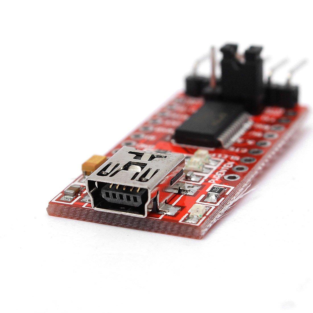 PROMOTION! Hot Sale FT232RL Module 5V 3.3V FTDI USB TTL conversion adapter Red