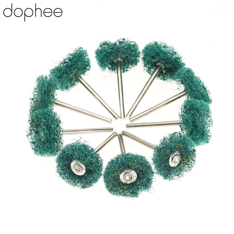 Dophee 25mm Dremel Accessories Buffing Polishing Wheel Buffing Pad Brush Dremel Rotary Tool 3mm Shank For Polishing Sanding *10