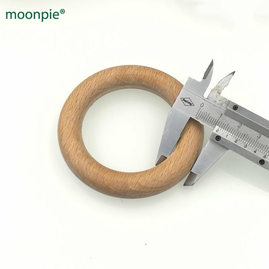 70mm DIY Szerves bükk gyűrű kerek bükk fa gyűrűk teether szoptató játék szuper sima 2,75 hüvelykes 5db baba ajándék WC051