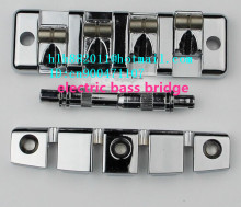 free shipping new 4 strings electric bass guitar bridge in chrome made in Korea L13
