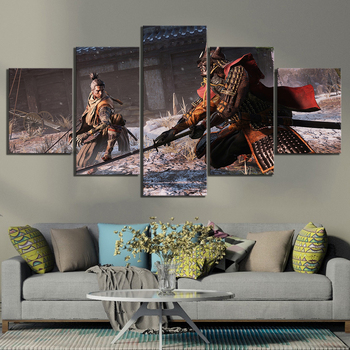 5 Piece Fantasy Art Paintings Sekiro Shadows Die Twice Fighting Samurai Game Poster Artwork Canvas Paintings Wall Art Paintings 2007 bmw x5 spoiler