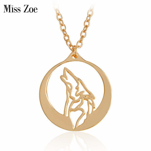 Miss zoe howling wolf pendant necklace punk animal chain gold silver miss zoe howling wolf pendant necklace punk animal chain gold silver fashion cool jewelry gift for aloadofball Choice Image