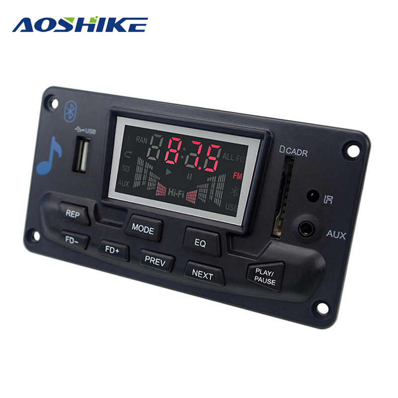 AOSHIKE Bluetooth sin pérdidas mono decodificador ajuste EQ espectro FM Bluetooth de Audio FM Multi-función MP3 con APP