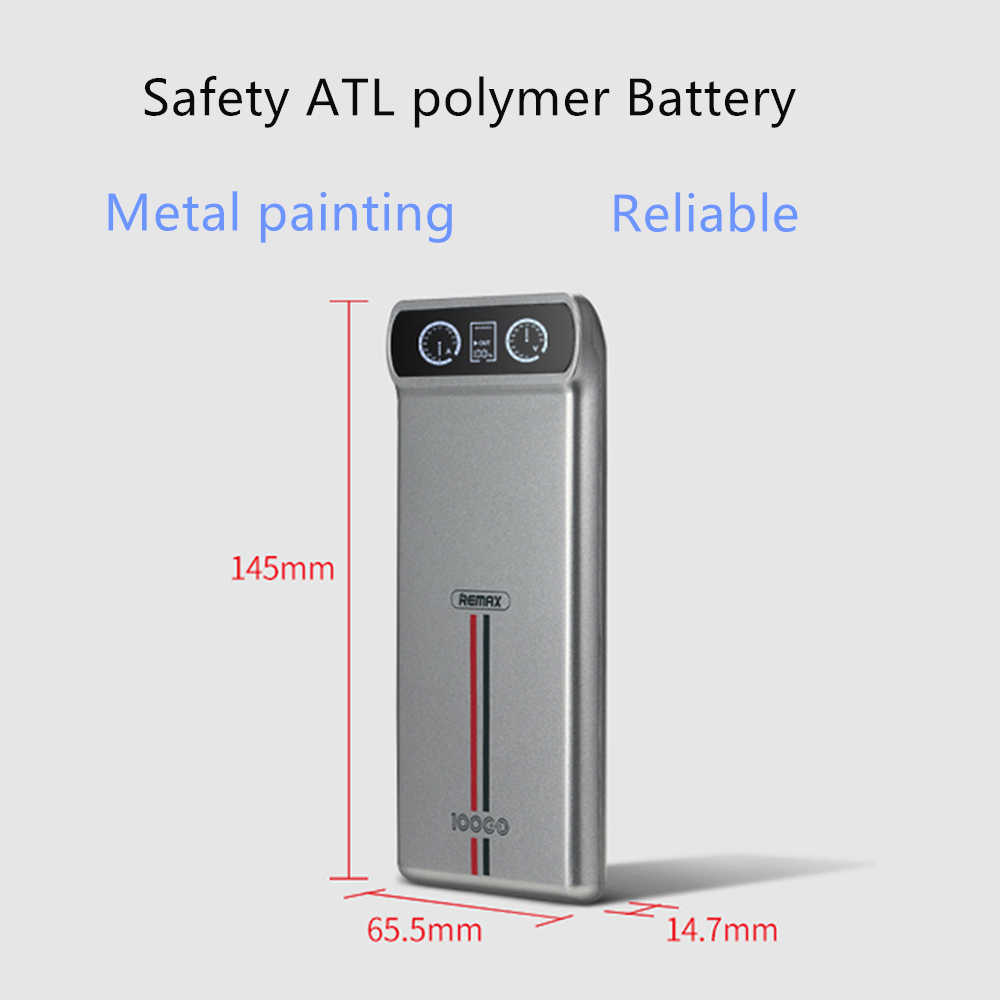 Remax 10000 мАч Внешний аккумулятор с двумя usb-портами для iPhone 6 7 samsung Внешний аккумулятор