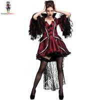 Bloody Beautiful Vampire Queen Costume Plus Size XL XXL Halloween Womens Classic Vampire Costume Deluxe Victorian Uniforms