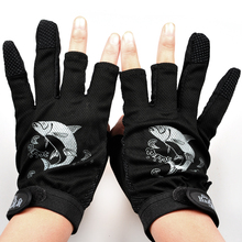 1 Pair Fishing Gloves Anti-Slip 3 Low Fingers Comfortable Pesca Outdoor Sports Winter Gloves Protector Finger Luvas Guantes