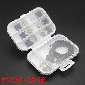 Cigarette Pod Storage Box for RELX JUUI AKSO MT E Cigarette Disposable Cigarette Storage Bag Plastic Hard Cigarette Pod Case фото