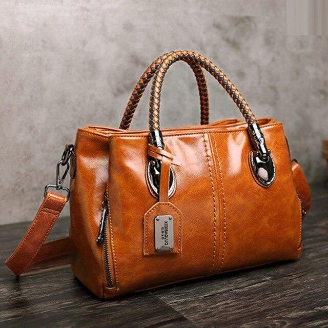 Luxury Brand 100% Genuine Leather Women's Messenger Bags Ladies Handbags High Quality Designer Shoulder Tote Bag For Female 4