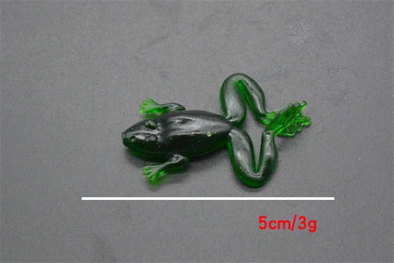 1 pcs Frog Soft Lure 50mm 3g Wobbler Silicone Fishing Lure Sea Jig Lure Silica gel Swimbait Isca Artificial Trout