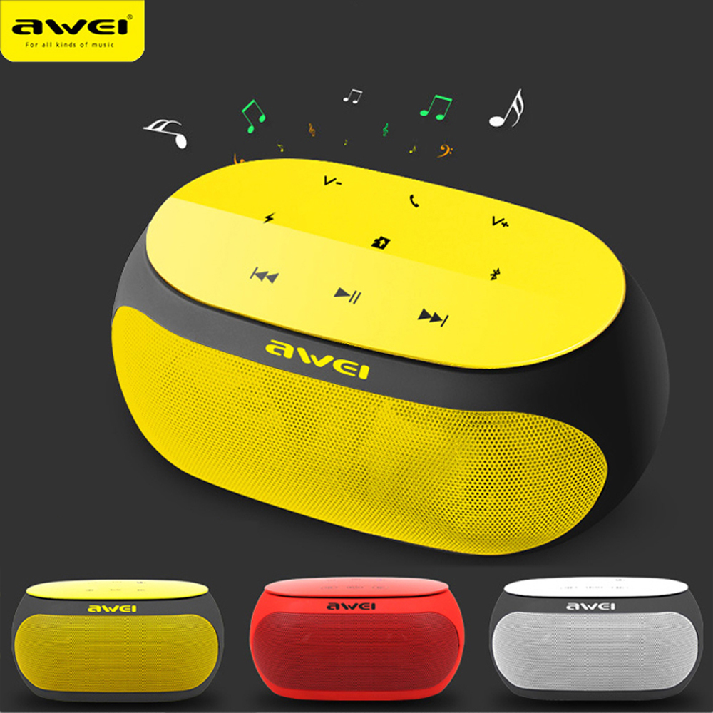 AWEI Bluetooth musique son barre de son Bluetooth Mini sans fil Portable Bluetooth haut-parleurs pour téléphone ordinateur PC Hoparlor lecteur Box