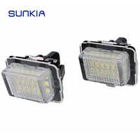 SUNKIA 2 unids/set gran oferta LED luz de placa de matrícula para Benz W204/W205/W216/W218/W212/W221/W231/W222/cia 6000K blanco