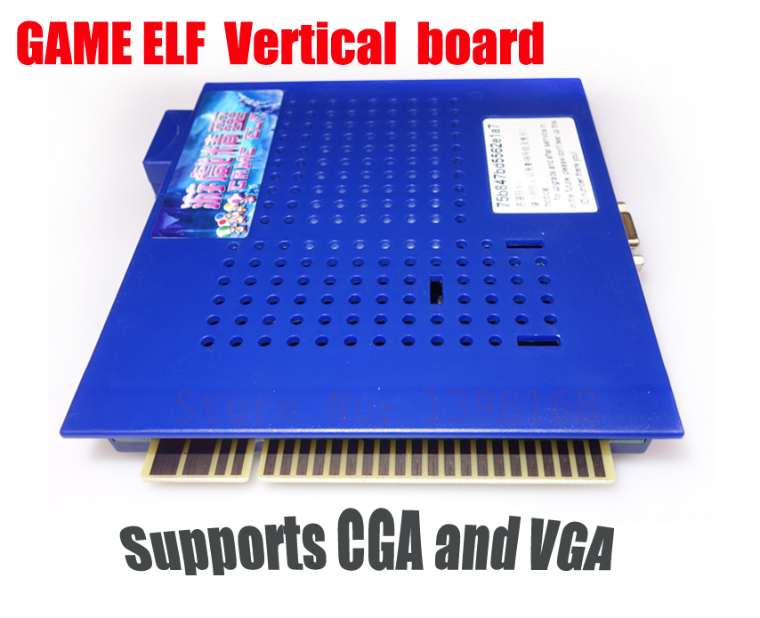 Vertical  jamma game elf 412 in 1 arcade cabinet  Multi classic game barod/ Vertical pcb/ Supports CGA and VGA  free shipping 2016game elf 621 in 1 jamma multi game pcb game board with cga