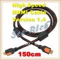 Высокая Скорость 4 К * 2 К HDMI Кабель/Версия 1.4/1080 P/PC & HDTV кабель/Ethernet 3D Ready/Мужчинами Кабель/1.5 М/Бесплатная доставка