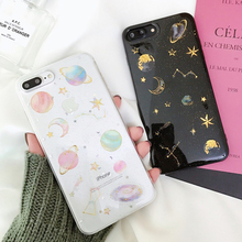 Colorful Planet Luxury Bling Glitter Case For iPhone 7 8 6 6S Plus X XS MAX XR Back Cover Soft Silicone Phone Cases wholesale