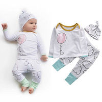Newborn Infant Baby Boy Girl Clothes Set Homewear Clothes Set Cute Baby Girl Clothing Outfit Set
