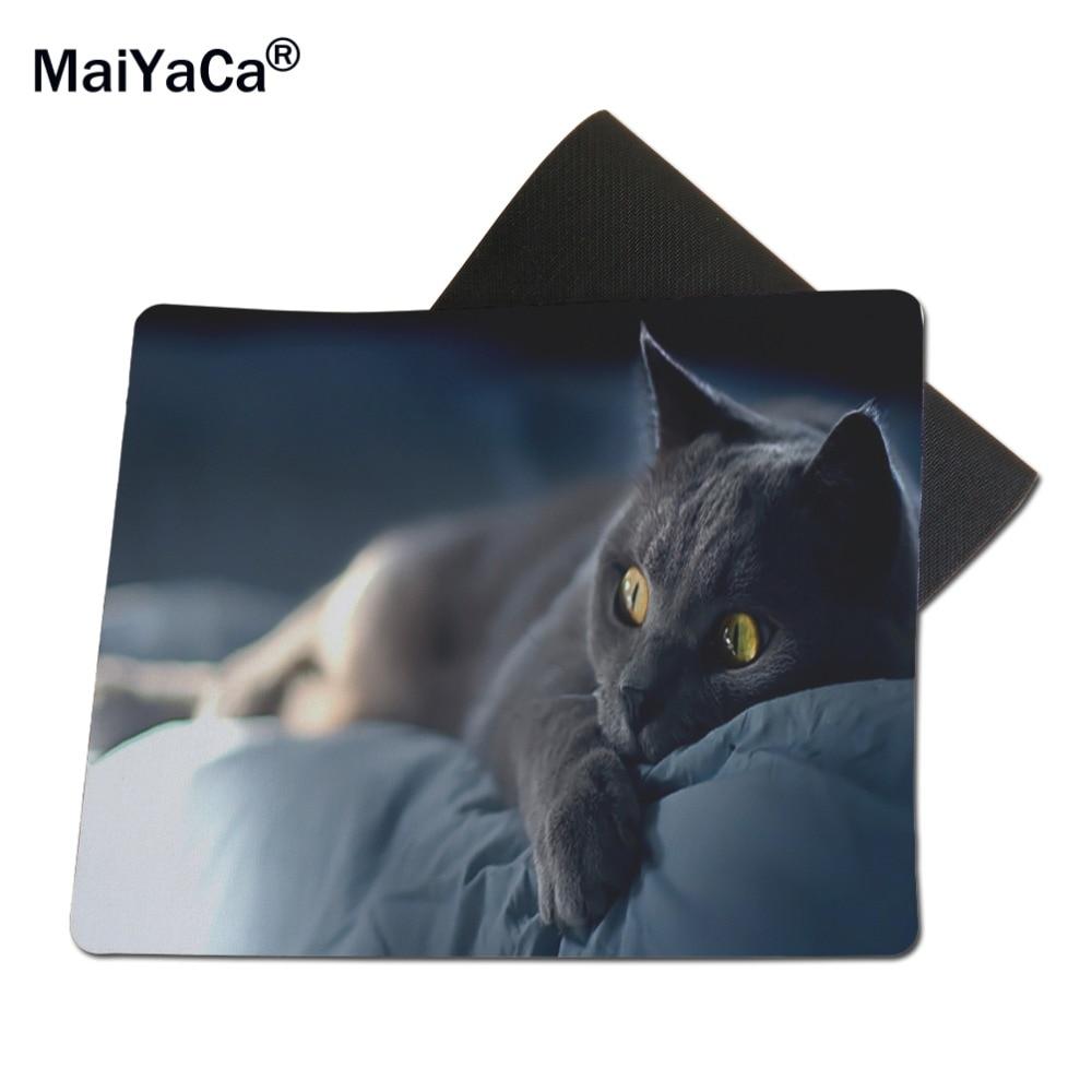 MaiYaCa Deitado Gato Mouse Pad New Borracha Não-Skid de Borracha Pad 18 22  cm e 25 29 cm 70d48fc2d04
