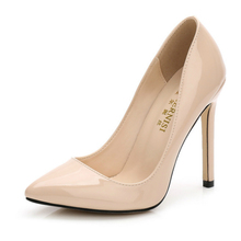 2018 New Women Shoes Pumps Wedding Super High Heels 11cm Genuine Woman Dress Office Sexy Elegant Europe Style Quality