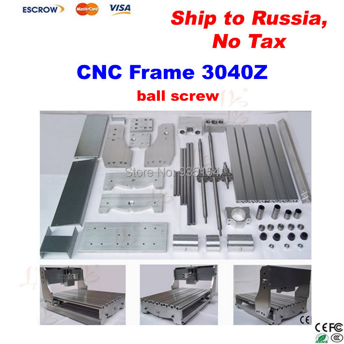 3040Z CNC Frame with Ball Screw, Engraving Machine Frame, Lathe Bed, no tax to Russia cnc router wood milling machine cnc 3040z vfd800w 3axis usb for wood working with ball screw