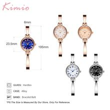 Kimio Luxury Brand Fashion Women Watches Dress Lady Wristwatch Alloy Bracelet Quartz Clock Waterproof Relogio Feminino Gift Box
