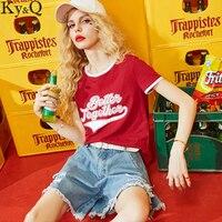 Ky Q Casual Cotton T Shirt Summer Women Tops 2017 Harajuku T Shirts Print Better Together