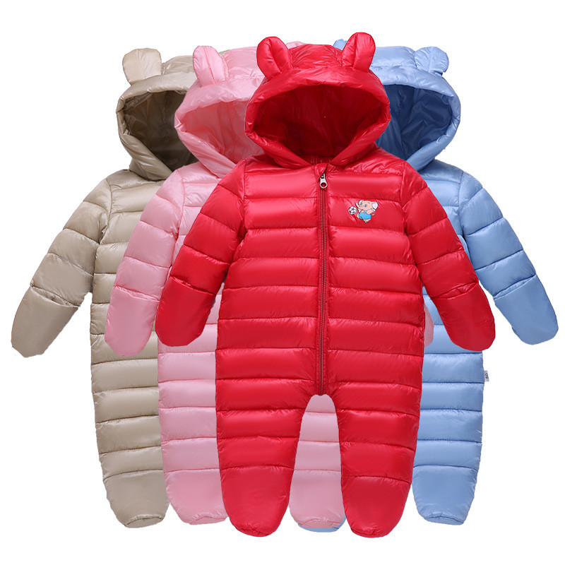 18M-24M Baby Clothing Rompers Thickening Infant Keep Warm Romper Cute Elephant Baby Boy Clothes Winter For Baby Girl Romper V20 baby clothing infant rompers clothing cute baby boy girl chef 100