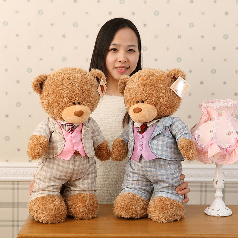 new plush gentle teddy bear toy creative suit bear doll gift about 50cm new plush gentle teddy bear toy creative suit bear doll gift about 50cm