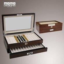 Новинка 2017 года Стиль 24 шт. пенал деревянная ручка коробка для хранения для карандашница Органайзер с стекла с 1 ящик