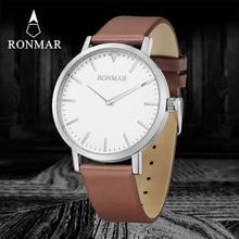 2017 New Top Brand Men Leather Watch RM9006G Business Men's Watch Role Luxury Watch Men Quartz Wristwatch Relogio Masculino